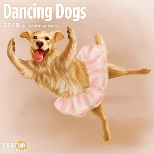 (Kids/Family Themed Wall Calendars by Bright Day Calendars 16 Month Wall Calendars 12 x 12 Inches (Dancing Dogs)