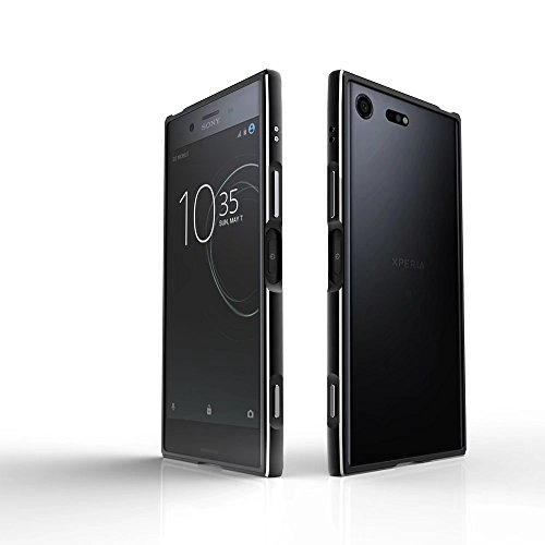 Aluminum Metal Bumper Case Shockproof Cover for Sony Xperia XZ Black - 8