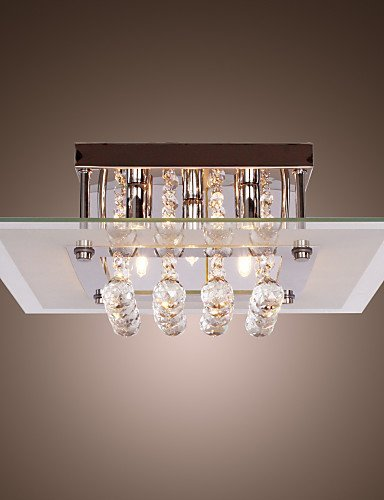 - JIN@ 6 Lights,Decorative Crystal Chandelier In Cognac Color With Lamp Shade , Crystal & Glass , 110-120v