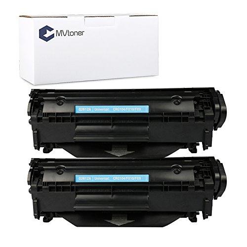 MVtoner 12A Q2612A Toner Cartridge High Yield 2PK for HP Laserjet 1010 1012 1015 1018 1020 1022 1022n 1022nw 3015 3020 3030 3050aio 3052aio 3055aio M1005 M1319F Series Printers