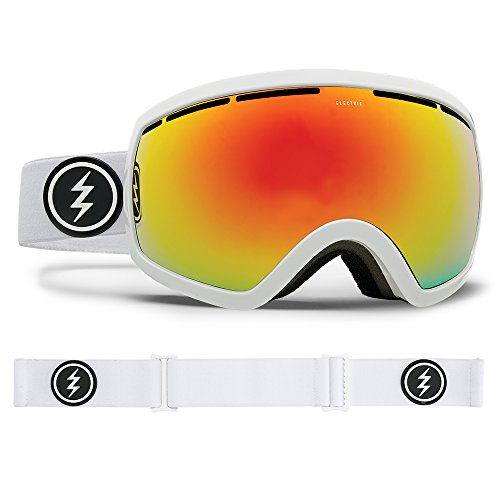 Electric Visual EG2.5 Gloss White/Brose Red Chrome Snow Goggle by Electric