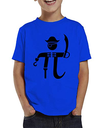 Child Pirate Royal - SpiritForged Apparel Pi-Rate Pirate Math Symbol Toddler T-Shirt, Royal 5T/6T