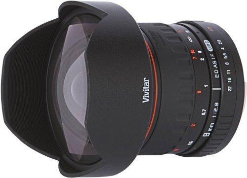 Vivitar Fish-Eye Objektiv 8 mm 1:3,5 für Canon EF-S Objektivbajonett - EOS 7D, 10D, 20D, 30D, 40D, 50D, 60D, 70D, 100D, 300D, 350D, 400D, 450D, 500D, 550D, 600D, 700D, 1000D, 1100D & 1200D