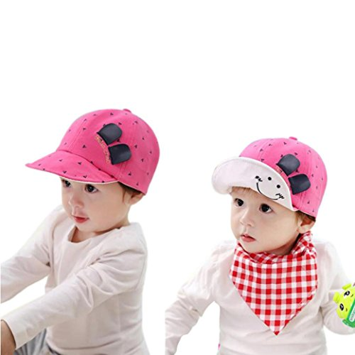Bunny Baseball (Binmer(TM) Kids Baby Bunny Rabbit Visor Baseball Cap Cotton Peaked Hat (Hot Pink))