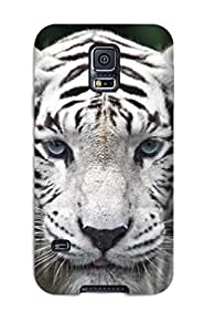 Hot Snap-on Female While Tiger Hard Cover Case/ Protective Case For Galaxy S5