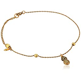 Alex and Ani Womens Pineapple Anklet