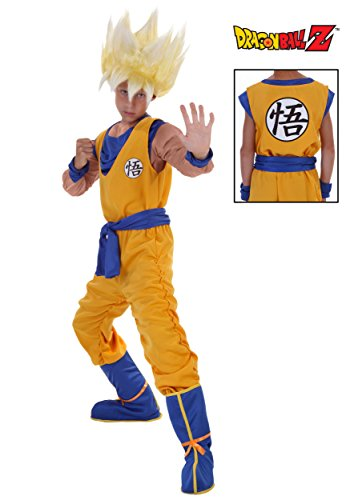 Goku Dragon Ball Z Costumes (Fun Costumes ' Super Saiyan Goku Costume Large (12-14))
