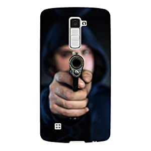 "Disagu Design Protective Case para LG K10 Funda Cover ""Mann mit Pistole"""