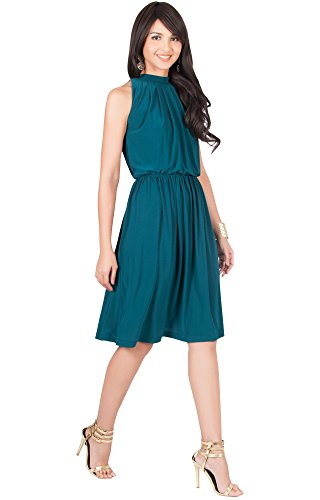 wholesale new & pre-owned designer distinctive style KOH KOH Petite Womens Sleeveless Bridesmaid Halter Neck Flowy Wedding Party  Work Knee Length Day Formal Dressy Summer Casual Sexy Sundress Mini Midi ...