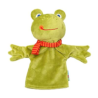 Alician Cute Cartoon Animal Duck Monkey Hand Puppet Parent-Child Hand Doll Kindergarten Story Frog 25cm: Home & Kitchen