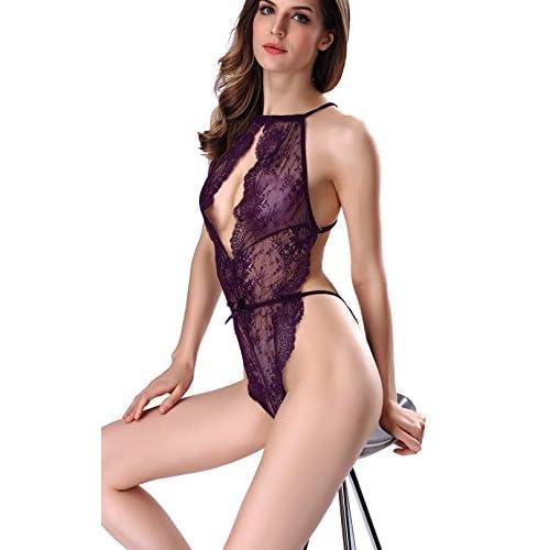 423f4bfd4f4d Barato Mujer Atractivo Lencería Fina una pieza escotado por detrás ...