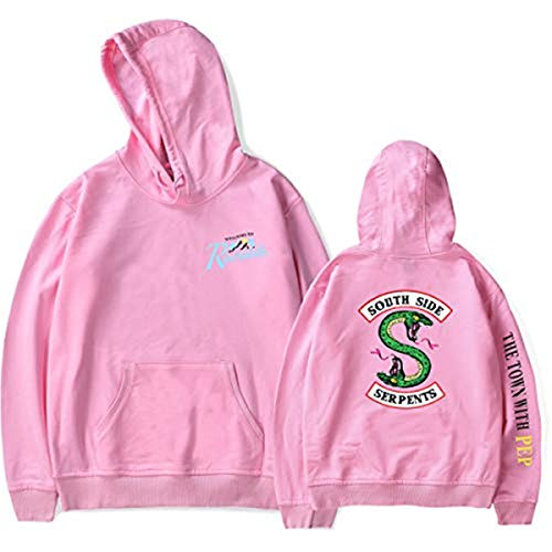 Rose South Riverdale Capuche Ruiying Homme Serpents Side Sweat Fxq0ffwTI