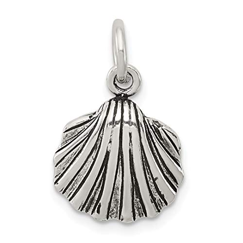 925 Sterling Silver Sea Shell Mermaid Nautical Jewelry Pendant Charm Necklace Shore Fine Jewelry Gifts For Women For -