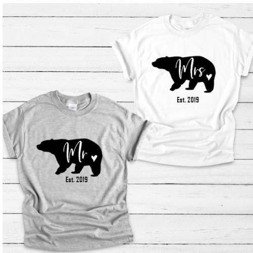 1fe548db Top Seller! Mr and Mrs Tees set of 2 - Newlywed shirt, Honeymoon ...