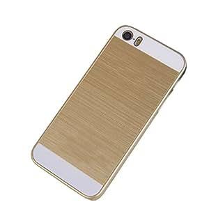 Sannysis(TM) 1PC Elegant Frame Chrome Hard Back New Case Cover For iPhone 5 5s (Gold)