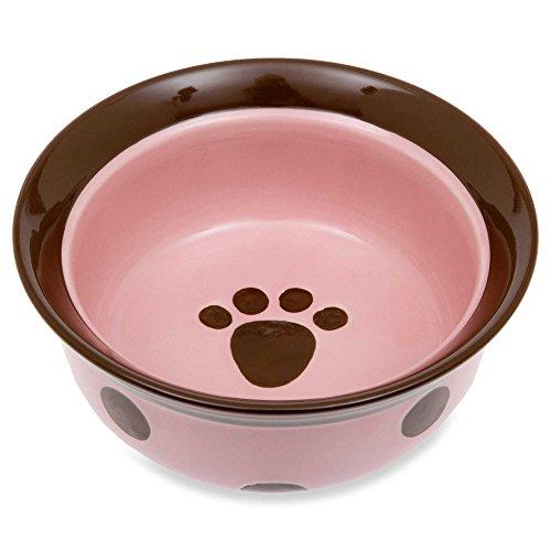 Petrageous Designs Sassy Girl 6-Inch Round Deep Stoneware Pet Bowl ()