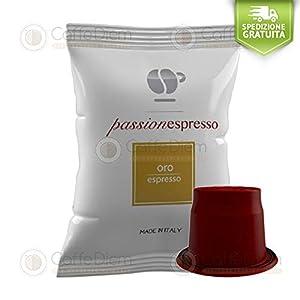 Caffè Lollo 200 Capsule Lollo Passione Espresso Miscela Oro Compatibili con Macchine Nespresso