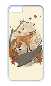 Apple Iphone 6 Case,WENJORS Awesome Fox and rabbit Hard Case Protective Shell Cell Phone Cover For Apple Iphone 6 (4.7 Inch) - PC White