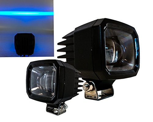 Set of 2 Blue Line LED Forklift Light Warehouse Safety Front Side Marker Clearance Warning Lamp Spot Offroad Race 12V 48V