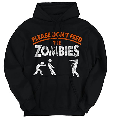Classic Teaze Please Dont Feed Zombies Halloween Undead Hoodie -
