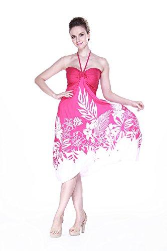 Indri marie enne Pink Floral femme pour Edge Rose Blanc Robe en de hawa 5BwPOP