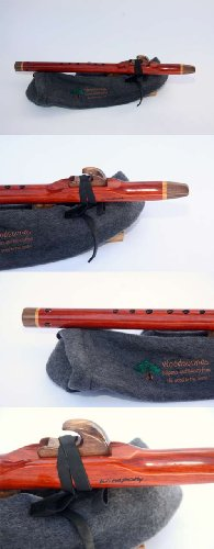 Brent Haines - Concerto Low C – Padauk, Walnut & Cherry Native American Style Flute