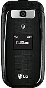 LG B470 AT&T Prepaid Basic 3g Flip Phone, Black - Carrier