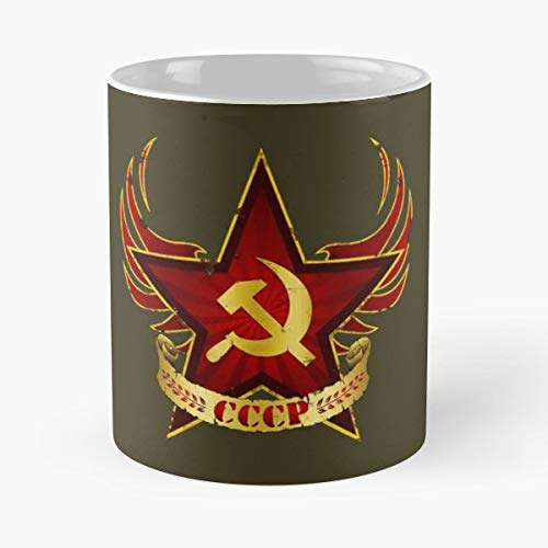 Army Cccp Hammer Revolution Gfx - 11 Oz Coffee Mugs Unique Ceramic Novelty Cup, The Best Gift For Holidays.