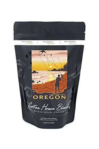Beach and Kites - Lincoln City, Oregon (8oz Whole Bean Small Batch Artisan Coffee - Bold & Strong Medium Dark Roast w/ - Lincoln Beach