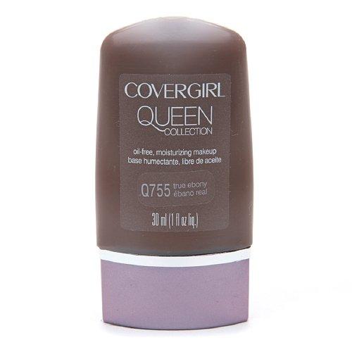CoverGirl Queen Collection Oil-Free Moisturizing Make up, True Ebony Q755 1 fl oz (30 ml)