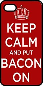 Keep Calm & Put Bacon On It Tinted pc Case for Apple iPhone 4 or iPhone 4s