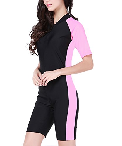 Wetsuit-Diving Suit & Sports Skins for Scuba Diving, Snorkeling, Swimming, Spearfishing-Pink-US L/Asian ()
