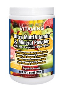 LifeSource Vitamins Ultra Multi Vitamin Mineral Powder Plus Phyto Foods