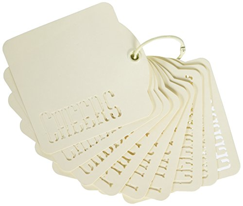 Cheer Chipboard - Graphic 45 4501278 Cheers, Party, Celebrate Tags, Ivory