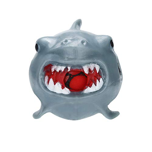 CMrtew ❤️ Cute Squishy Toys Stress Reliever Stress Relief Shark Rubber Mesh Ball Stress Anxiety Pressure Squeeze Grape Toys (AS Show, 2.5x3cm) -