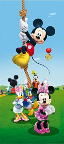 1art1 Mickey Mouse - Minnie Mouse, Daisy Duck and Friends, Climbing On A Rope Póster Fotomural (202 x 90cm)