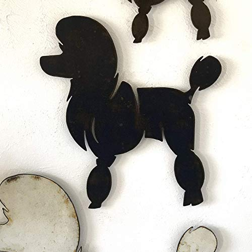 (Poodle - Funky - Metal Wall Art home decor - Handmade - Choose 11