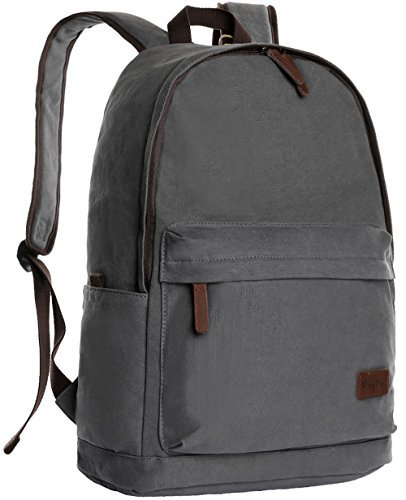 ibagbar Classic Canvas Backpack Grey