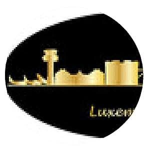 alfombrilla de ratón horizonte de la ciudad de Luxemburgo - ronda - 20cm