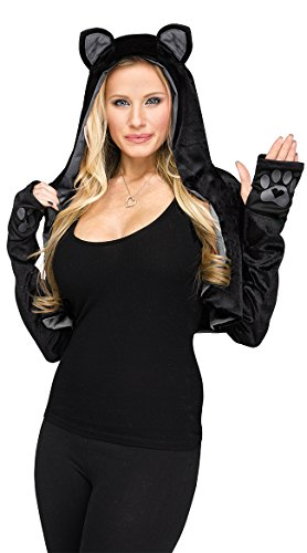 Sexy Shrug BLACK CAT Small Womens Halloween Quick Costume (Quick Halloween Costumes For Ladies)