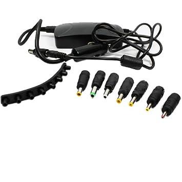 H26 universal para ordenador portátil auto DC Cargador cargar + 8 x Adaptador