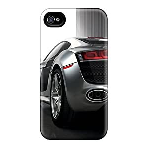 Shockproof Hard Phone Cases For Iphone 4/4s (ODl19058FrgL) Customized High Resolution Audi R8 Skin