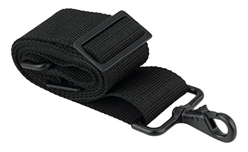 Made in USA 2''W x 60''L Black Poly Web Replacement Shoulder Luggage Travel Bag Strap Black Hardware with No Shoulder Pad by Travel Trends (Image #2)
