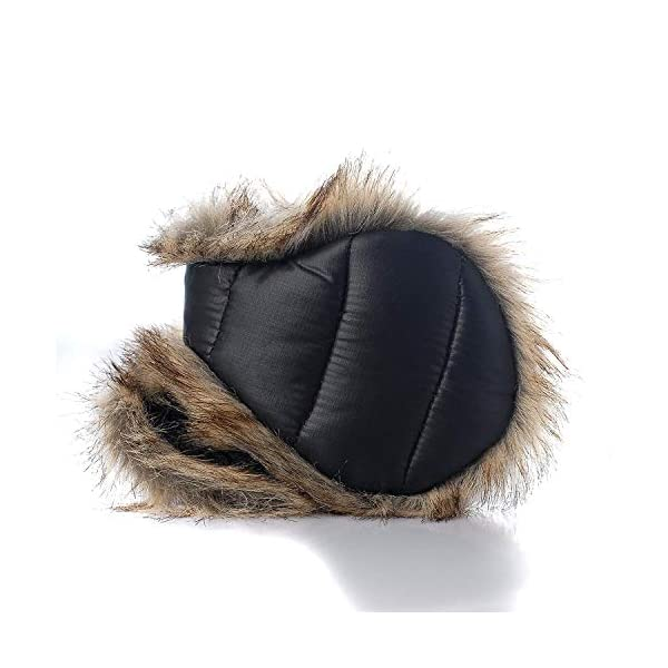 180s Down With Fur Behind The Head Ear Warmer