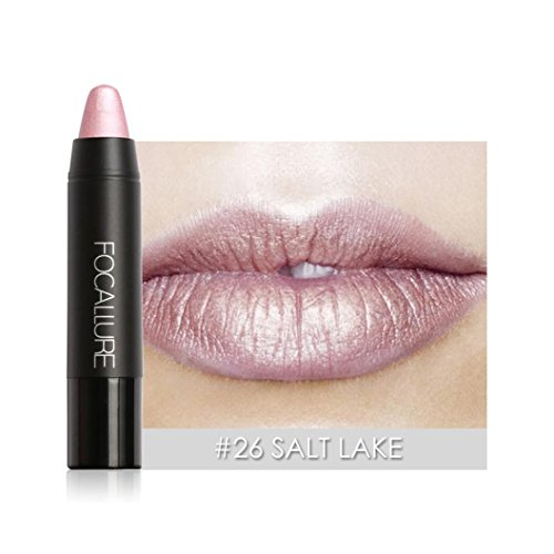 Gold Matte Lacquer - Dreamyth Matte Metallic Lip Pencil Fast Dyeing Lipstick (G)