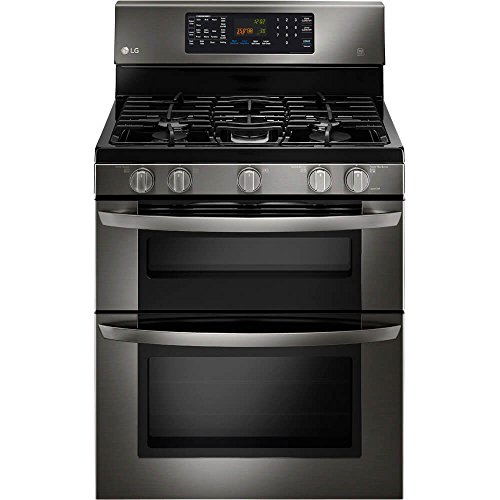 LG LDE3037BD Black Stainless Steel Series 6.7 cu. ft.  Capacity Electric Double Oven Range (Range Oven Double Electric)
