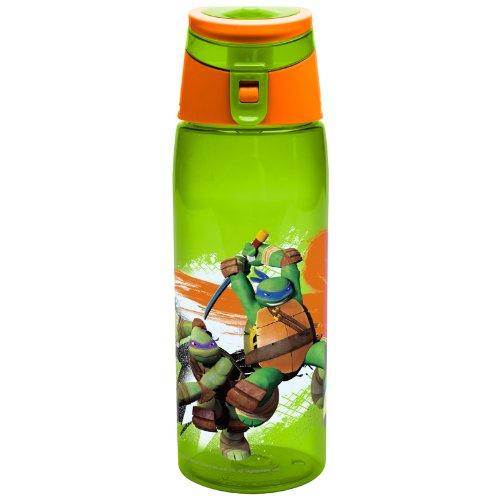 Zak Designs Teenage Mutant Ninja Turtles 25 oz. Wide-Mouth Water Bottle, Ninja - Mile Kids For Miracle