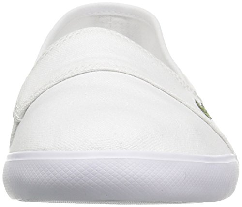 Lacoste Womens Marice Canvas Slip On White Canvas