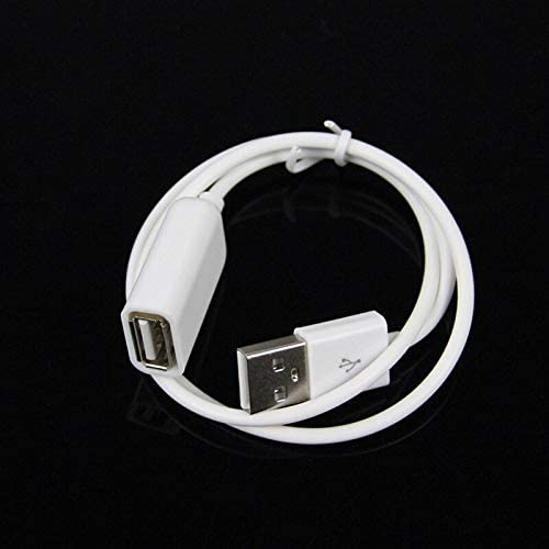 Cable Length: 50CM Cables 50cm White USB 2.0 Cable Male to Female Extension Cable USB Data Charge Power Cord Extender for PC Laptop