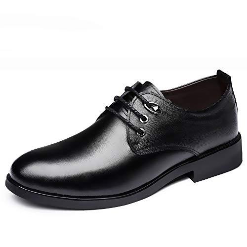 WFL Scarpe da uomo in pelle nera da uomo, scarpe da uomo d'affari, scarpe casual da uomo, scarpe casual in pelle Nero